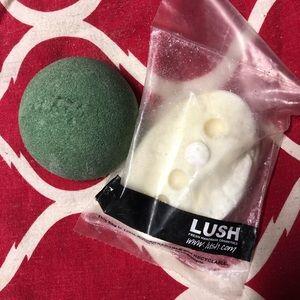 LUSH Body Massage Bar & Sugar Scrub